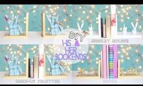 Make Bookends - His & Her Gift Decor Organize Makeup Palette, Jewelry Holder, DVDs