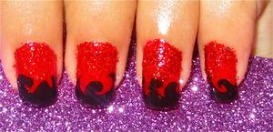 Red Hot nailart video tutorial: www.youtube.com/nailartbynidhi