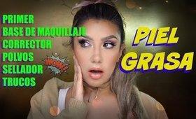 PRODUCTOS de Maquillaje para PIEL GRASA/  OIL skin makeup products   auroramakeup