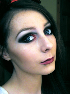 Wearable Devil Makeup :) Tutorial: http://www.youtube.com/watch?v=mJGgUeLxGjk
