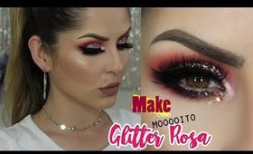Make Tutorial Outubro Rosa Collab com as Amigas   por Claudia Guillen