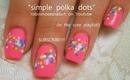 simple polka dot magic candy sprinkles! robin moses nail art design tutorial 726