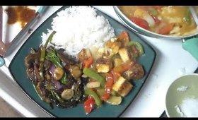 Vegan Lemon Tofu & Stir Fry Veggies
