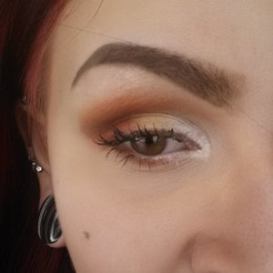 A sort of sunrise look that I did, after being inspired by my new Nars shadow, Persia.