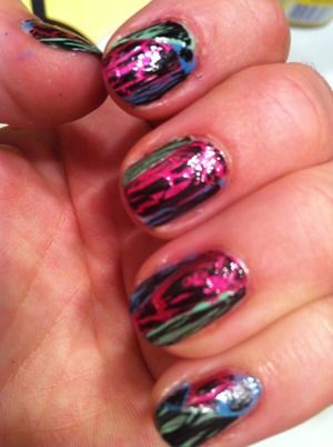 opi shatter polish over various colours
