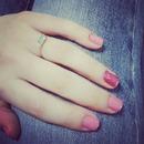 Cute glitter pink nail