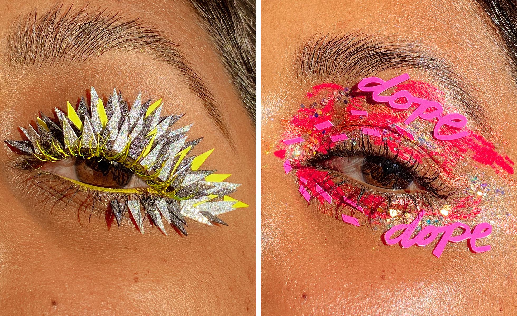 Photo: Lavanya Wiles | Paper art eye makeup looks