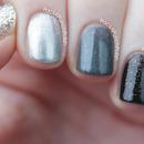 Silver to Black Ombre Nails