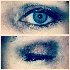 Smokey sparkly eye  (Sephora eye shadow!)