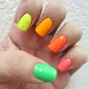 China Glaze Flip Flop Fantasy, Sun Worshipper, In The Lime Light, Orly Glowstick, Melt Your Popsicle, and OPI The Man With The G