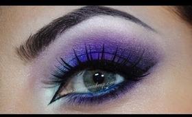 Purple, teal, pink makeup