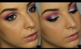 Purple, Pink, & Silver New Year's Makeup Tutorial ♥
