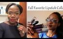 Fall Fav Lipsticks Collab with Billionaire Mandy