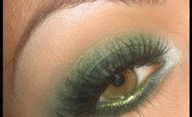 Make-up tutorial : Green Smoky Eyes using GDE