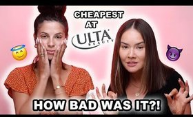 TESTING THE CHEAPEST ULTA MAKEUP WITH LAURA LEE | Maryam Maquillage