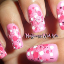 Cutie Pink Polka Dots Nail Art by Madjennsy