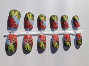 Available for purchase here: https://www.etsy.com/listing/114515798/autumn-scene-nail-set