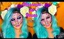 🌹Mascara de ROSAS 🌹/ Halloween makeup| auroramakeup