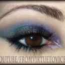 Metallic Colorful Smokey Eye