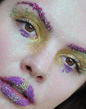 Fantasy Makeup made with glitters
