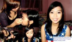 Makeup for one of my closest friends, Lovely. :-) Credits to my best friend, Faye for the picture. :)