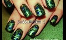 PEACOCK feather inspired design: robin moses nail art tutorial 224