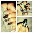 Camouflage nail art