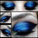 Blue & Black Cat Eye with Yellow
