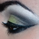 Green, black smokey eye