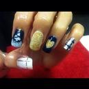 Beginning of December Xmas nails