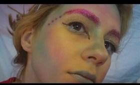 Alien Makeup and galaxy nails!