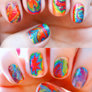 Tie Dye Marble Nails