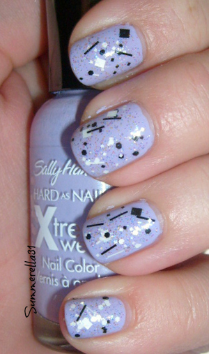 Sally Hansen Xtreme Wear Lacey Lilac and Lush Lacquer Salt N Peppa
