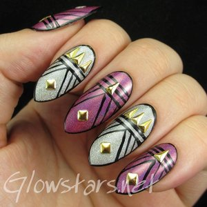 Read the blog post at http://glowstars.net/lacquer-obsession/2014/11/featuring-born-pretty-store-isosceles-triangle-nail-studs/
