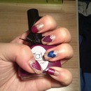 nail art of today! St Valentin..? :D