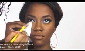 Soft Cut the Crease Eyeshadow with Thick mod Eyeliner + Contouring
