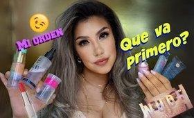 ORDEN de APLICACION , que va primero?!?! / What order do you put on makeup?  auroramakeup