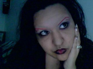 inspired by Tim Burton himself with a girly twist and as always his love of bold colour. this gothic-fantasy look combines my favorite elements of cosmetology with my love for vulgar literature, like Edgar Allen Poe meets Nicki Minaj. Truly a one of a kind creation.