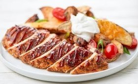 Mesquite Chicken with Loaded Potato Wedges   Home Chef Recipe