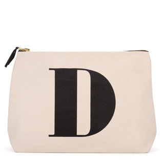 Natural Wash Bag Letter D