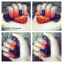 "NOTD: Sinful Colors ""Courtney Orange"" & OPI ""Emotions"""