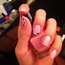 Random Pink Nail Art 🎀