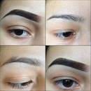 Brows- Before & after.