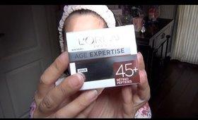 Créme de jour Age expertise 45+ de  L'Oréal /Subleem/BeautyOver40