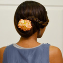 Side Wrapped Braided Bun Updo