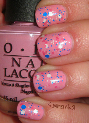 OPI Pink Friday and Lush Lacquer Mr. Bubble