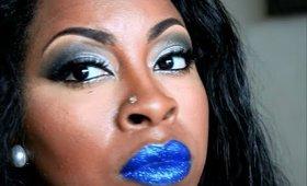 Blue Glitter Lips!
