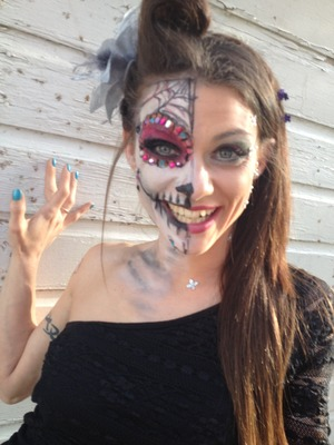 Day of the dead Sugarskull Hair and MakeUp Artist Christy Farabaugh