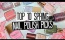 TOP 10 Spring Nail Polish Picks & Trends 2016 | NAIL POLISH WEEK!