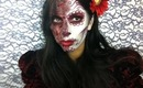 Sugar Skull Burnt Face Halloween Makeup